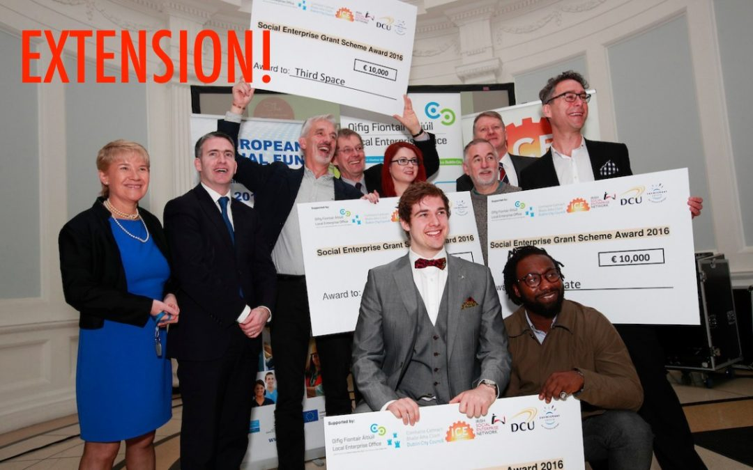 Extension! ICE Social Enterprise Grant Closing Date update