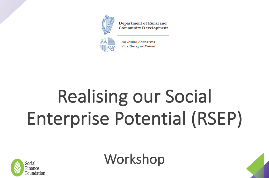 Realising our Social Enterprise Potential (RSEP)