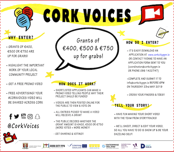 Cork Voices Grants up for Grabs!
