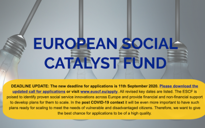 Extension of Deadline for applications to the European Social Catalyst Fund