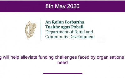 Ministers Ring and Canney launch €40 million COVID-19 support package for Community and Voluntary Organisations, Charities and Social Enterprises