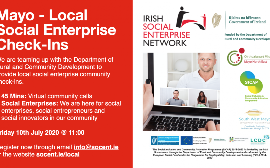 Mayo Social Enterprise Networking 10th July 2020 @ 11:00