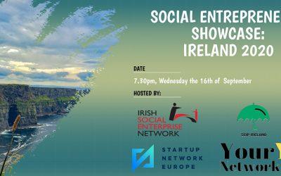 Social Entrepreneurs Showcase: Ireland 2020 – 16th September 2020 19:30