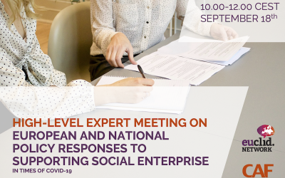 We need your help: HIGH-LEVEL EXPERT MEETING ON EUROPEAN AND NATIONAL POLICY RESPONSES TO SUPPORTING SOCIAL ENTERPRISE IN TIMES OF COVID-19