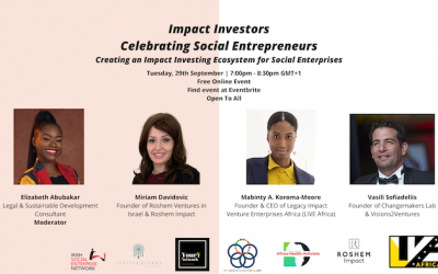 Impact Investors: Celebrating Social Entrepreneurs Tuesday 29th September 2020