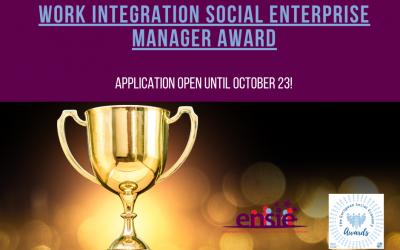 Work Integration Social Enterprise Manager Award
