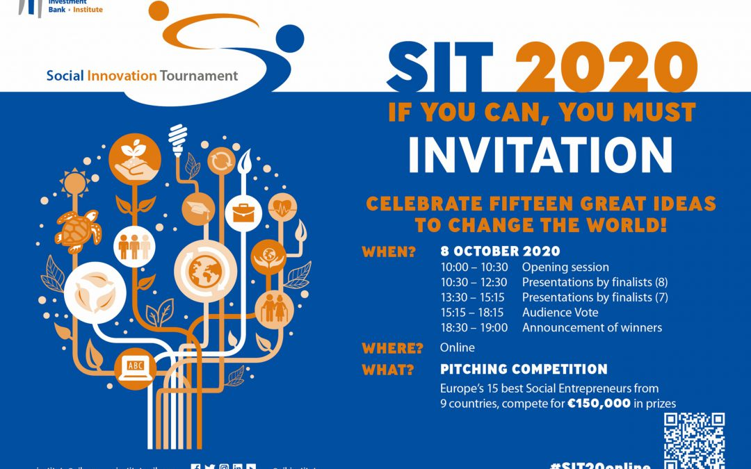 EIB Social Innovation Tournament Finals 8th October 2020