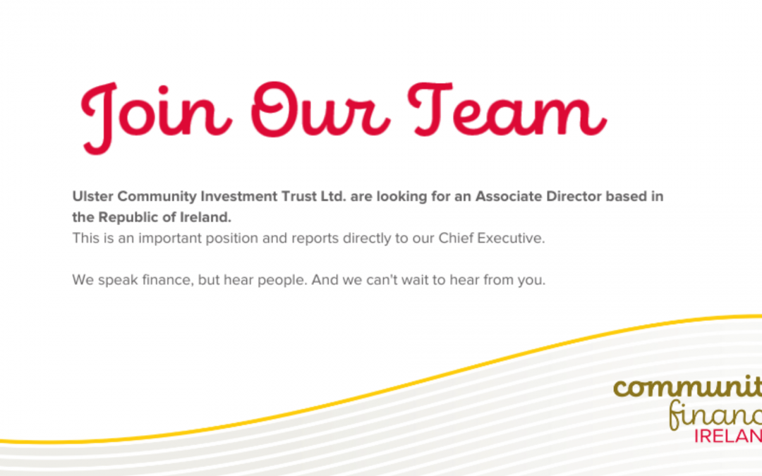 Community Finance Ireland Seek an Associate Director