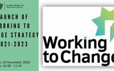 Launch of Working to Change – Department of Justice Social Enterprise and Employment Strategy 2021-2023