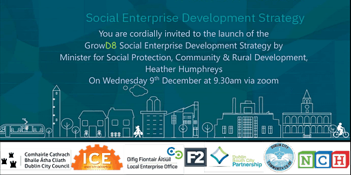 You're invited to Launch of the D8 Social Enterprise Strategy and Survey – Wednesday 9th December 2020 @9.30am -10.30am