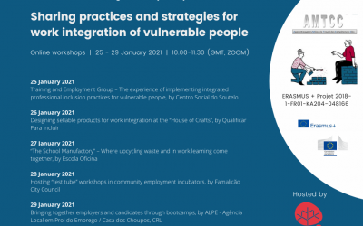 Sharing practices for work Integration of vulnerable people Webinars 25th to 29th January 2021