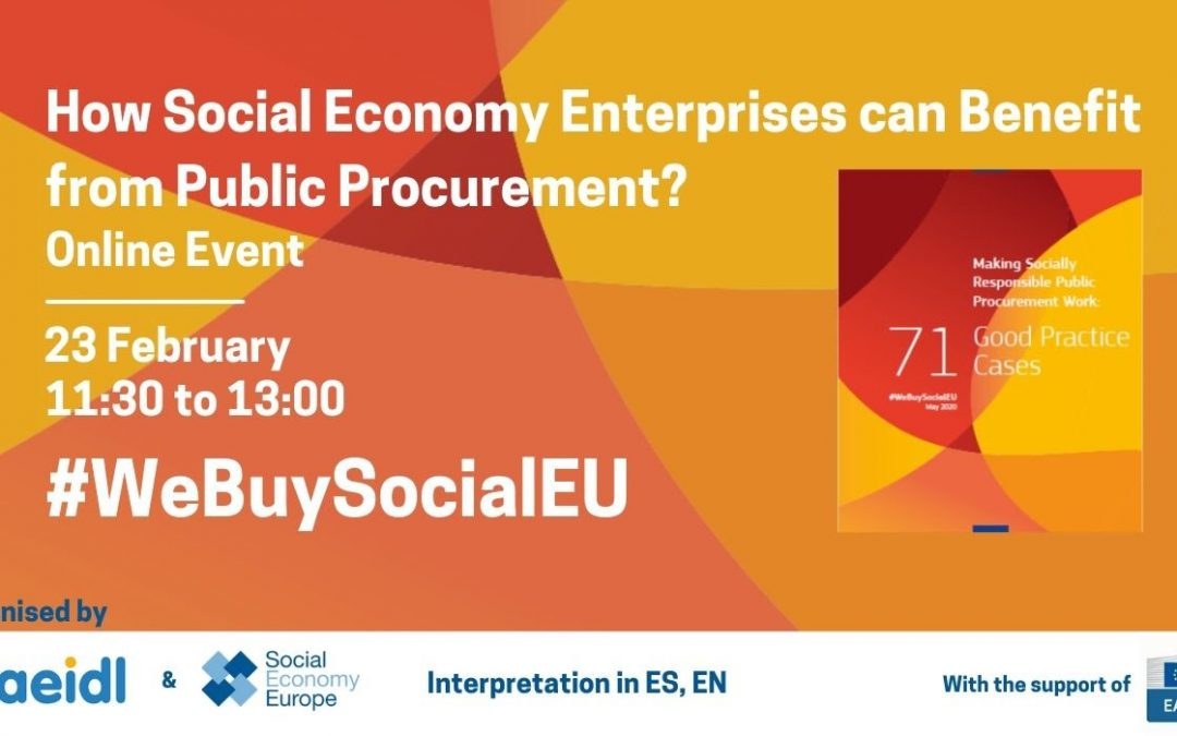 #WeBuySocialEU webinar How Social Economy enterprises can  benefit from public procurement