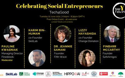 """YourY Network: """"Tech For Good – Celebrating Social Entrepreneurs"""" 22nd June"""