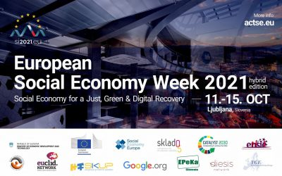European Social Economy Week 12th – 15th October 2021 Slovenia